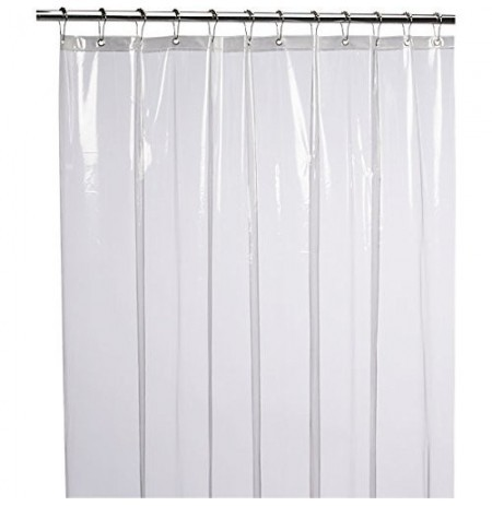 Non Toxic Mildew Resistant Anti Bacterial Eco Friendly PEVA 3G Liner Clear Shower Curtain