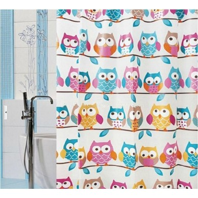 Waterproof Mouldproof Bathroom Shower Thick Cartoons Owl Curtains