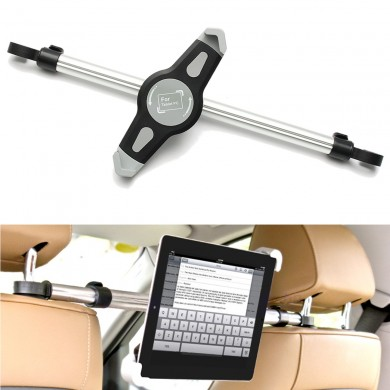 360 Adjustable Universal Aluminum Alloy Car Back Seat Head Rest Mount Tablet iPad Stand Holder
