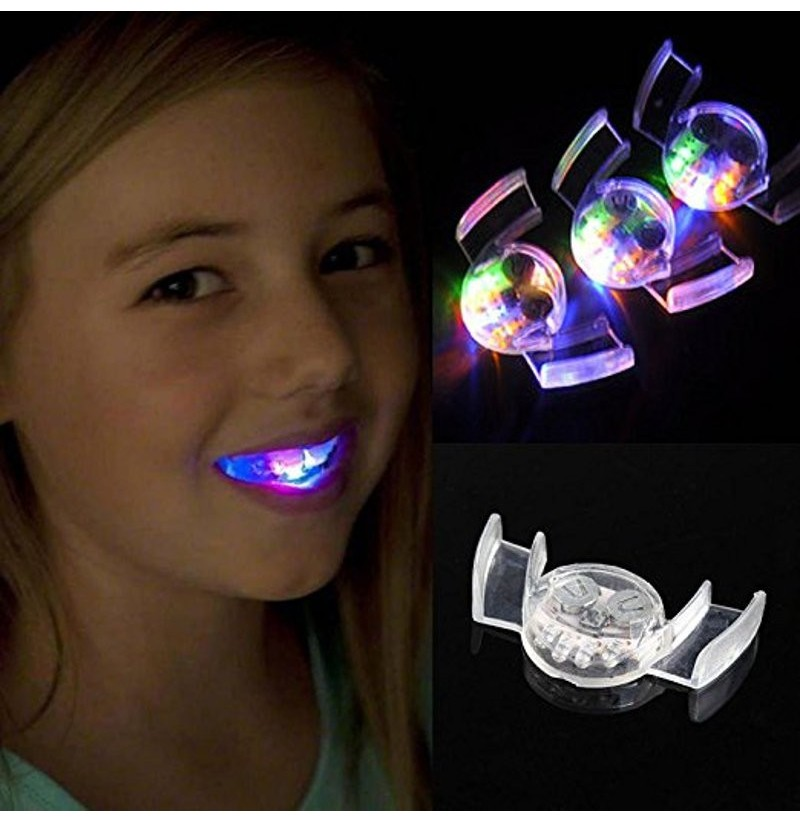 Halloween Denture Ghost Festival Supplies LED Flash Dental
