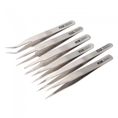 Lot 6 Anti-static Tweezer Maintenance Stainless Steel Tool