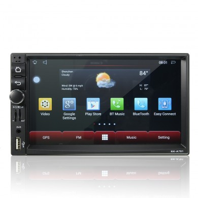 RK-R701 7 дюймов Touch 4K HD GPS WIFI Android Bluetooth FM Радио Авто MP5 Player Head Unit