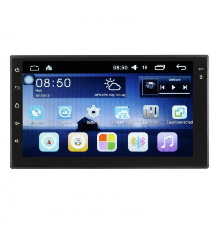 Android 7 Pollici 2 Din HD Touch Screen WIFI Bluetooth 4.0 Link Mirror Car Nero MP5 Player OBD