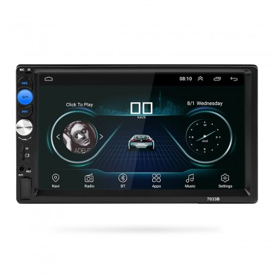 7 дюймов 2 Din Quad Core Android 8.0 Авто MP5 DVD-плеер WI-FI 3G GPS Стереоплеер Bluetooth Радио Indash