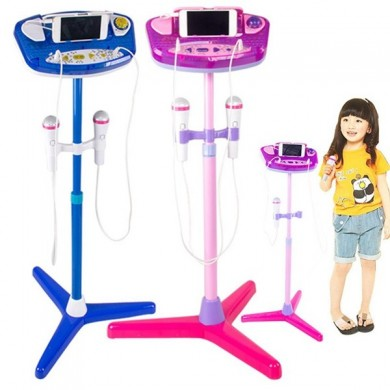 Soporte ajustable con 2 micrófonos Karaoke Music Toys for Kids