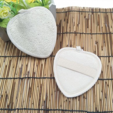 Natural Gourd Heart Skin Cleaning Brushes Bath Rubbing Towels
