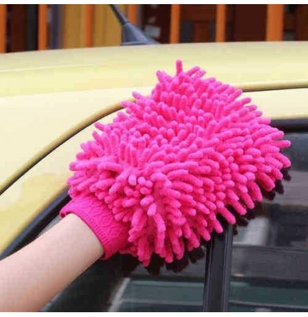 1Pc Micro Fiber Cleaning Brushes Gloves Cleaning Car Floor