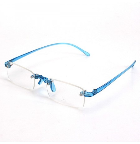 Blue Rimless Light Presbyopic Reading Glasses Fatigue Relieve Strength 1.0 1.5 2.0 2.5 3.0