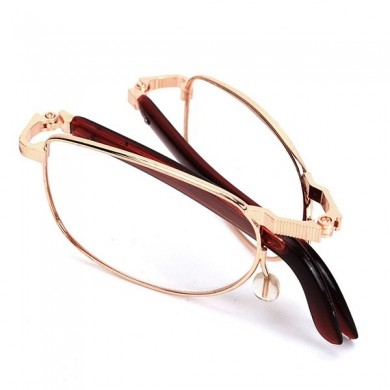 Fold Up Folding Rimmed Micro Compact Fatigue Relieve Reading Glasses Strength 1.0 1.5 2.0 2.5 3.0 3.5