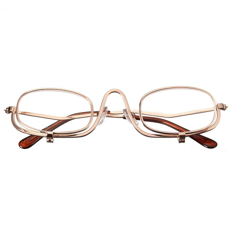 Magnifying Makeup Reading Glasses Eye Spectacles Flip Down Lens Folding Cosmetic Readers (Magnification Strength: 1.5) фото