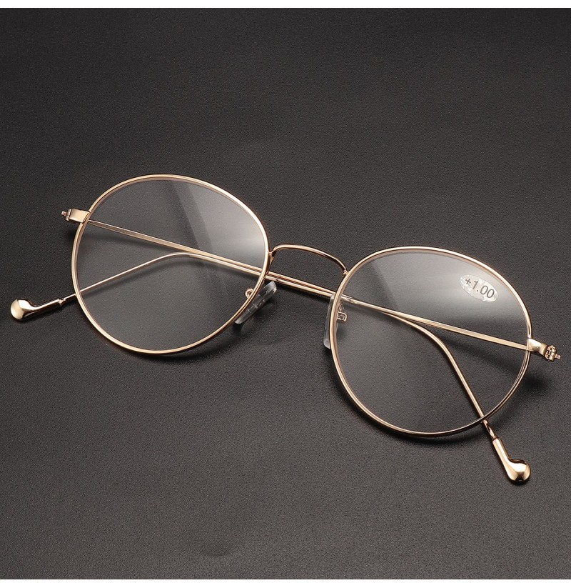 HD Anti-blue Ray Computer Reading Glasses Hyperopia (Color: Gold, Magnification Strength: 1.5) фото