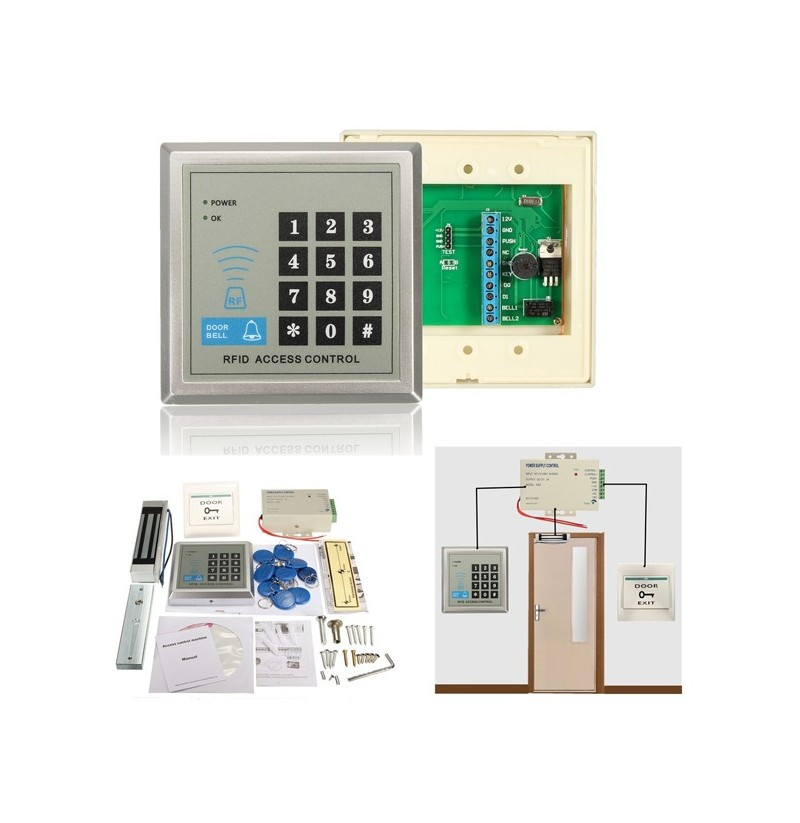 Electric Rfid Access Control Id Password Safty Entry System Door