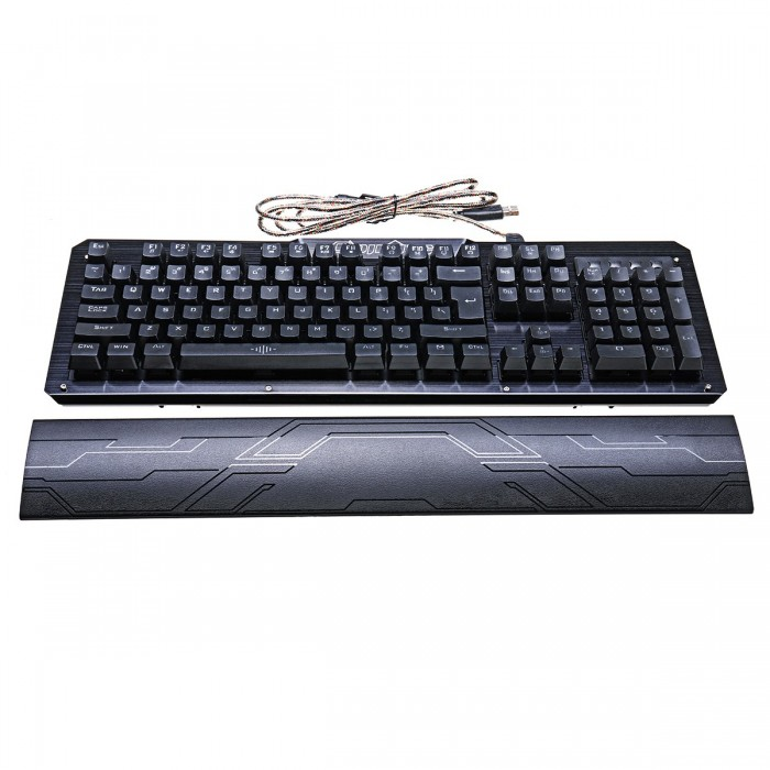 104Keys Blue Switch LED Backlight Mechanical Gaming Keyboard With Hand Holder USB Wired