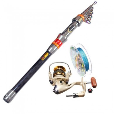 Superhard Telescopic Fishing Rod Set Freshwater Fishing Sea Fishing