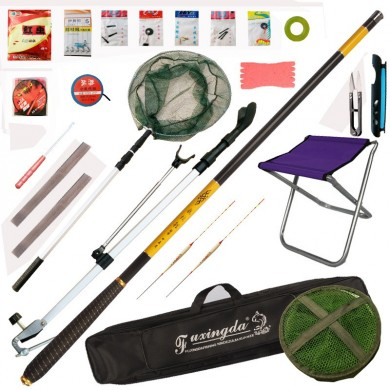 22 Accessories 3.6M Carbon Rod Combo Carp Fishing Rod Ultra-light Super-hard Competition Rod Set