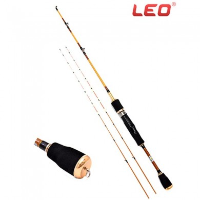 LEO Telescópico 1.2M-1.5M Rodó de pesca de carbono Super Soft Três pólos Travel Fishing Rod