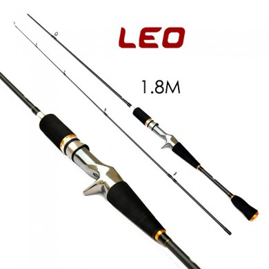 LEO 1.8M 2.1M Lure Casting de carbono Fishing Rod Travel Sea Fishing Pole