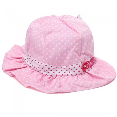 Toddler Baby Girls Sun Polka Dot Hat Bow Lace Cotton Bucket Cap