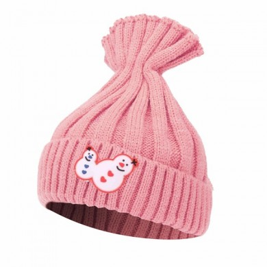 Kids Boys Snowman Knit Raccoon Pom Beanie Hat Girls Knitting Crochet Ski Cap
