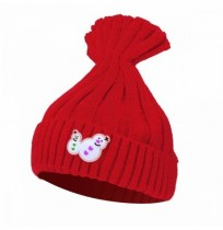 Kids Boys Snowman Knit Raccoon Pom Beanie Hat Girls Knitting Crochet Ski Cap d7994644fae3