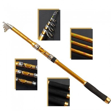 ZANLURE 2.1-3.6M Superhard Carbon Fiber Telescopic Fishing Rod Travel Spinning Fishing Pole