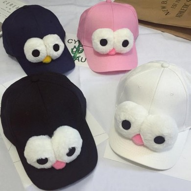 Kids Boys Girls Cartoon Big Eyes Snapback Caps Adjustable Baseball Hip-hop Hats
