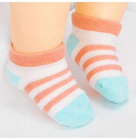 TUBENG Baby Summer Thin Breathable Striped Boat Socks Casual Soft Cotton Ankle Socks