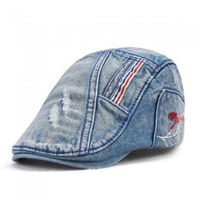 Kids Boys Stripes Cotton Blue ajustable gorras de la boina
