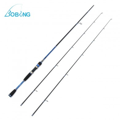 Bobing 2.1M Carbon Fiber 2 Tips Lure Fishing Rod 187g M ML Fishing Rod For Saltwater Freshwater