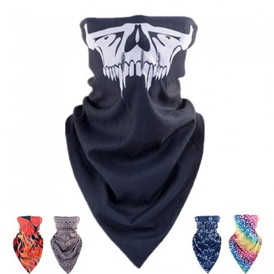Skull Triangular Scarf Winter Ski Windproof Hood  Bicycle Hunting Thermal Half Face Mask