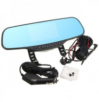 Car Dual Lens DVR Dash Camera GPS Rear View Mirror Camera Recorder 4.3 Inch TFT HD 1080P