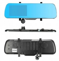 5 inch 1080P HD Car DVR Rear View Mirror Dual Lens Front Rear Camera Recorder