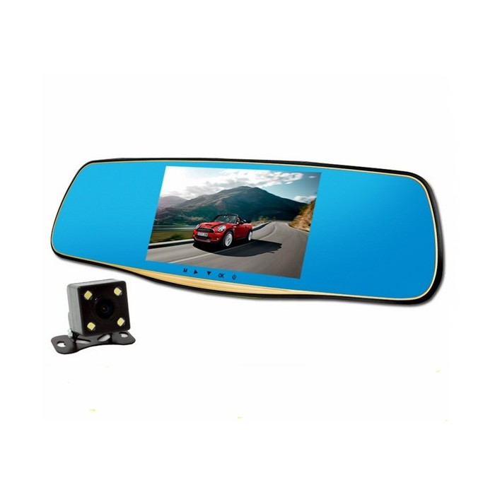 5 Inch 170 Degree Car DVR Wide Angle Lens Car Recorder Rear View Camcorder