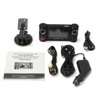 2.7 Inch F30 Dual Camera Lens Car DVR Cam Dash Video Recorder IR Light Night Vision