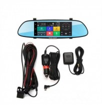 iMars 7 Inch Car Rear View Mirror Dash Camera HD 1080P Android Dual Lens DVR Câmera 3G WIFI GPS