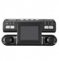 1080P HD Car DVR 2.0 Inches Double Lens Dash Camera G-Sensor GPS Camcorder