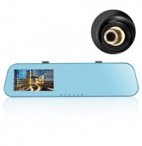 HD 4.3 Pollici Mirror Cam Recorder Dual lente fotografica Car DVR Dash Cam Rear View Parking