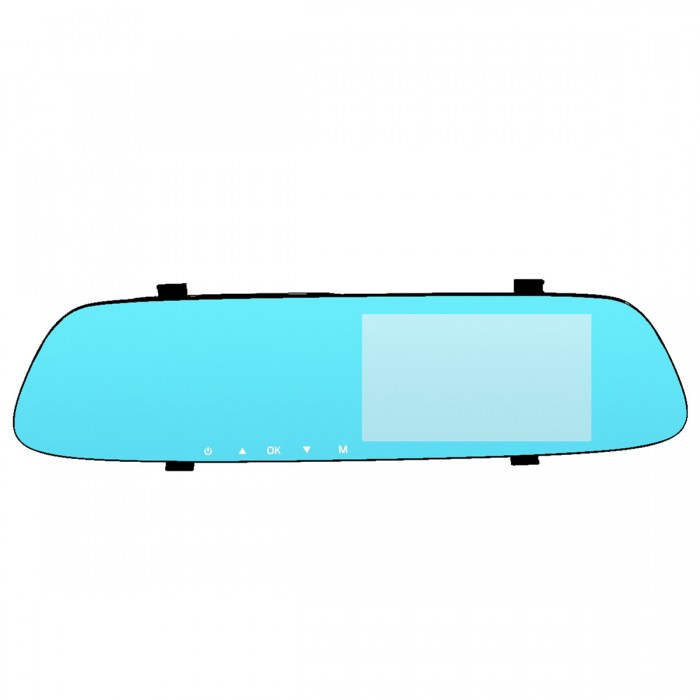 5 Inch 1080P HD Car DVR Rearview Mirror Dash Camera Dual Lens Recorder Monitor 170 Degree