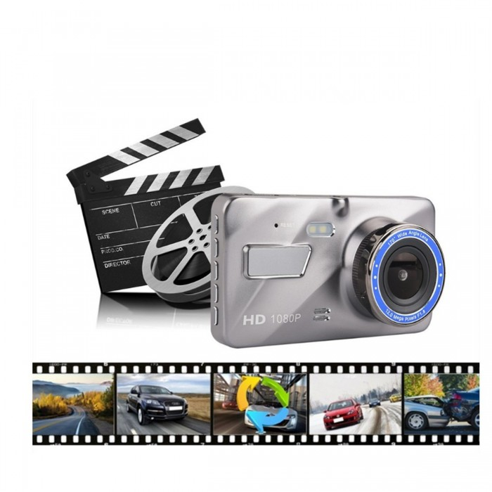 4/'/' HD 1080P Dual Lens Car DVR Front /& Rear Camera Video Dash Cam Recorder 170°