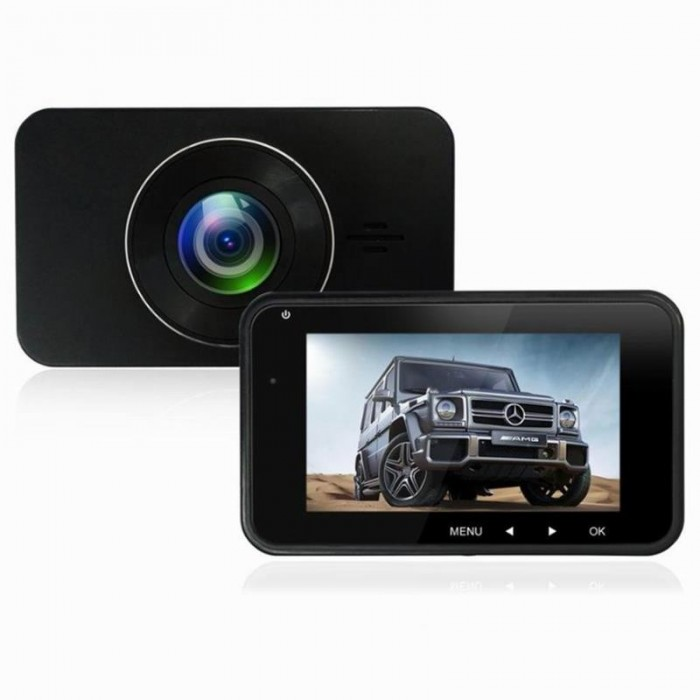 H15 Dual lente Car DVR HDR 1296P Mini fotografica Dash Cam Video Recorder Visione notturna