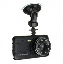 4 Inch Dual Lente Cámara HD 1080P 170 Grados Coche DVR Video Dash Cam Recorder Night Vision