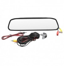 4.3 Inch Coche TFT Color LCD Pantalla Monitor Espejo HD CCD Reverse Rear View Backup DVR Cámara Kit