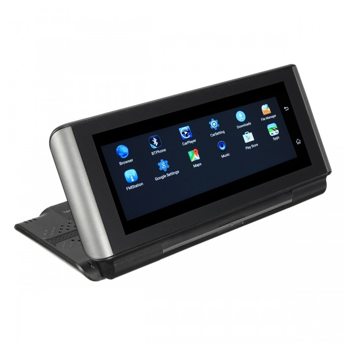 6.86 Inch HD Touch GPS Coche DVR Dual Cámara WiFi Bluetooth Video Recorder Inversión de voz