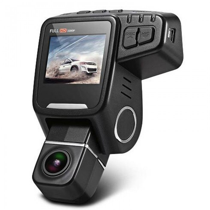 T682D Concealed Front And Rear Dual-way Car DVR Can Be Horizontal 360 Degrees Vertical 90 Degree Rot