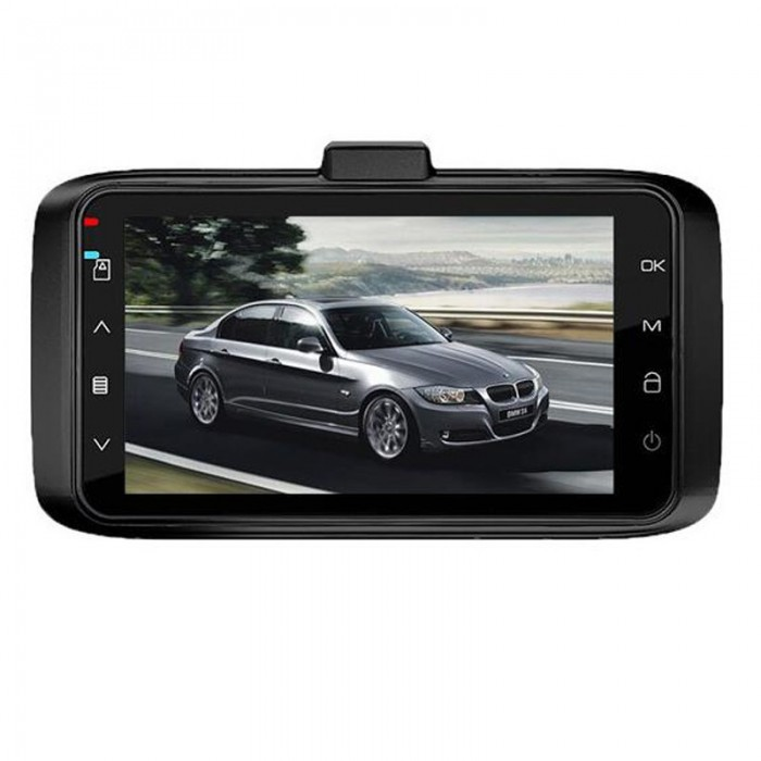 T605 1.5A 5V 3 Inch HD Screen Suction Disc Loop Recording Car DVR