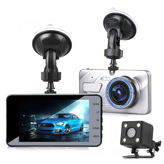 4 Inch HD 1080P Car DVR Camera Vehicle Video Recorder G-Sensor Dash Cam