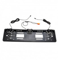 EU Car SUV Parking Sensors Radar Rearview Backup Camera License Plate Frame Kit