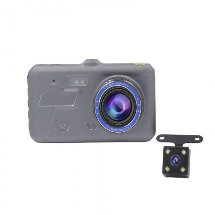 V2-TP 4 Pollici 5V 2A Car DVR con touch screen e doppio lente