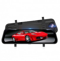 10 pouces 1080P Full Touch Screen HD Rétroviseur de voiture DVR Night Vision Double Lentille Inversant Image