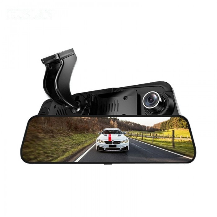 10 Pollici 1080P Touch Screen Dual lente Specchietto retrovisore auto DVR Sicurezza Guida fotografica